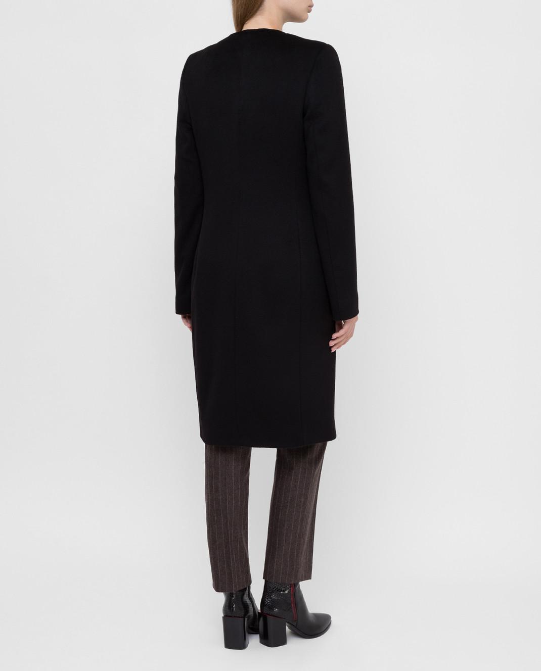 Heresis Черное пальто из шерсти D40100SLIME200 изображение 4