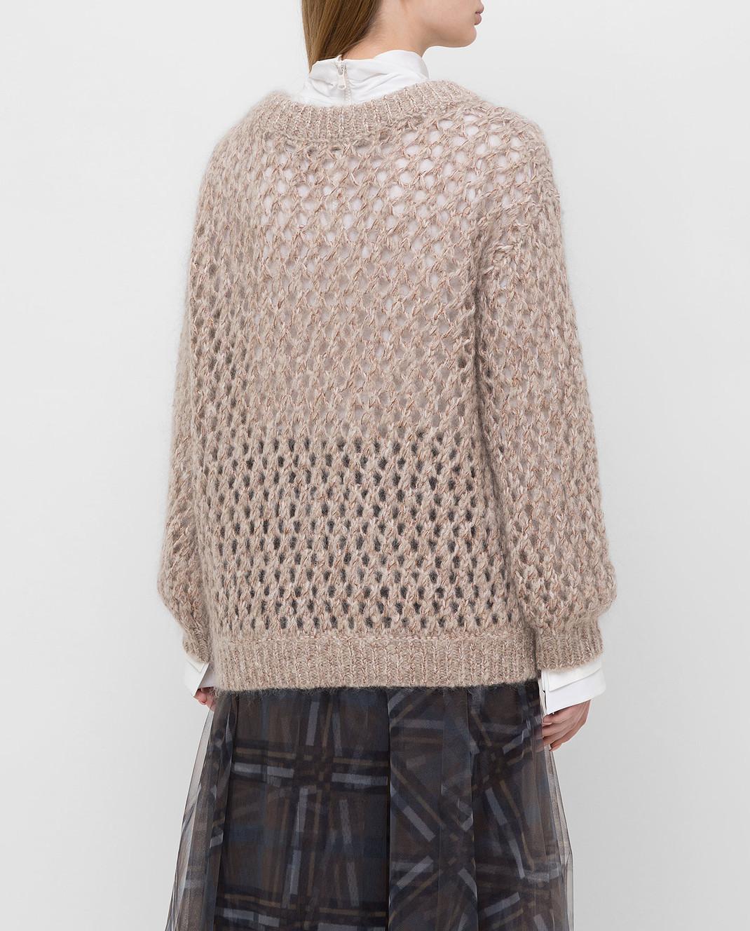 Brunello Cucinelli Бежевый свитер M9F386208 изображение 4