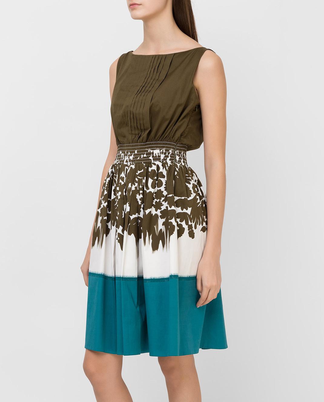 Prada Зеленое платье P32U7R изображение 3