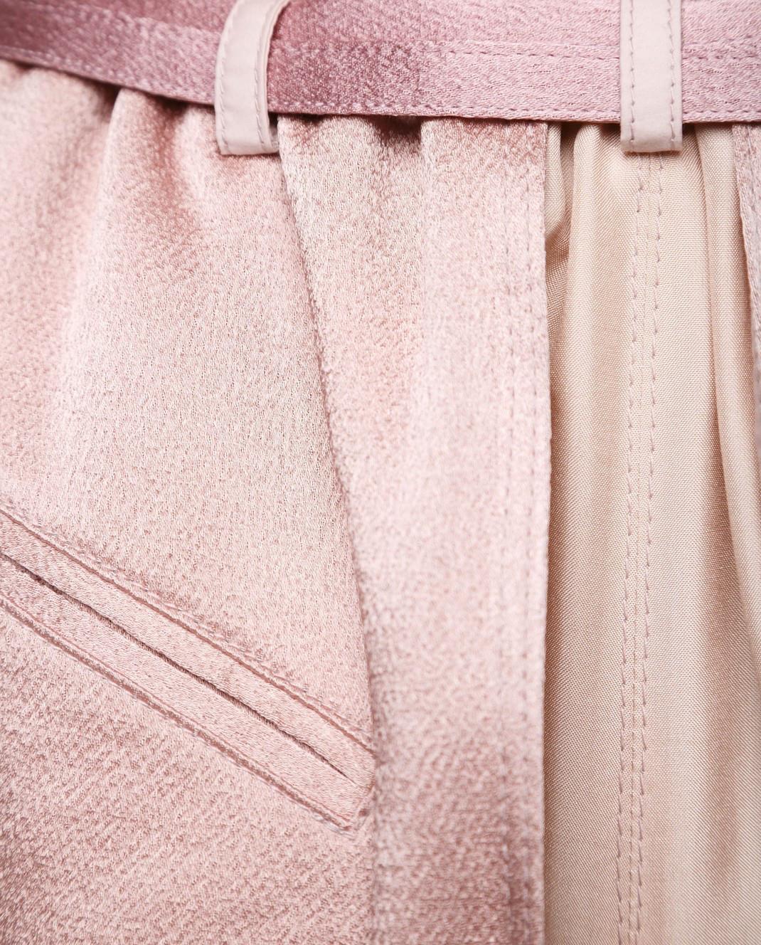 Valentino Розовые шорты из шелка и хлопка PB0RF0N537C изображение 6