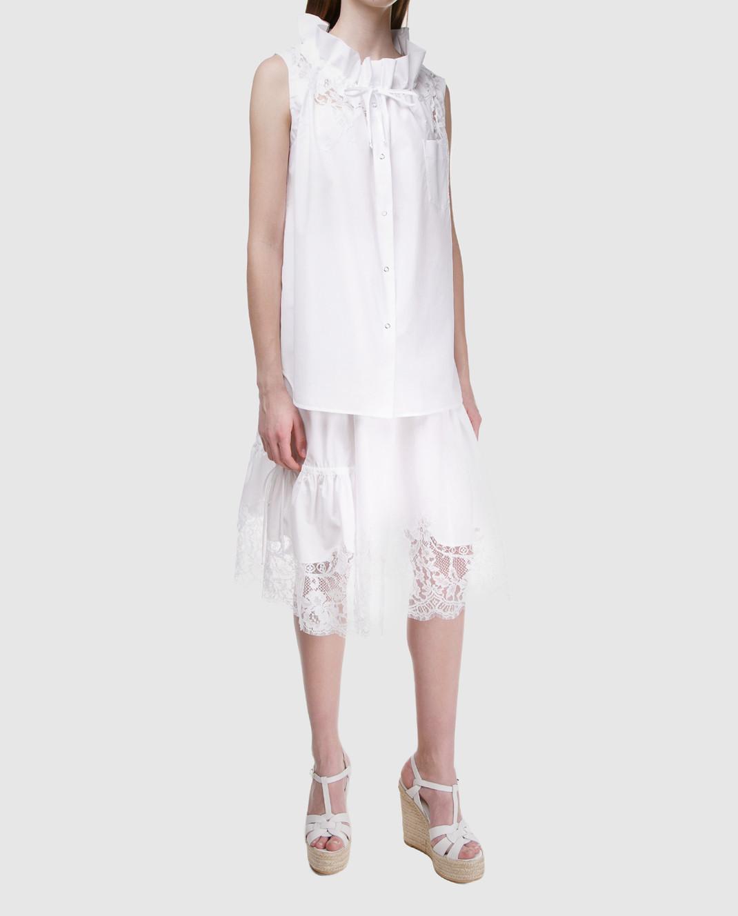 Ermanno Scervino Белая юбка D322O317MSC изображение 2