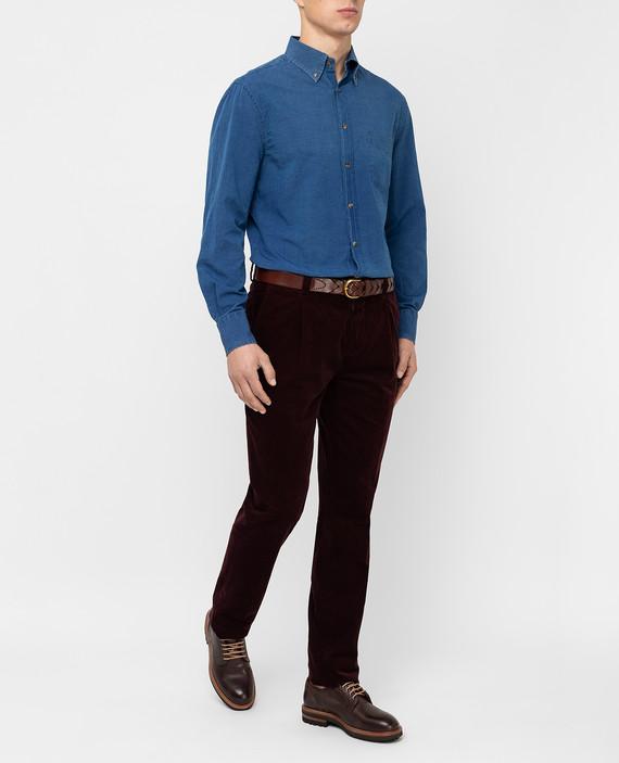 Бордовые брюки hover