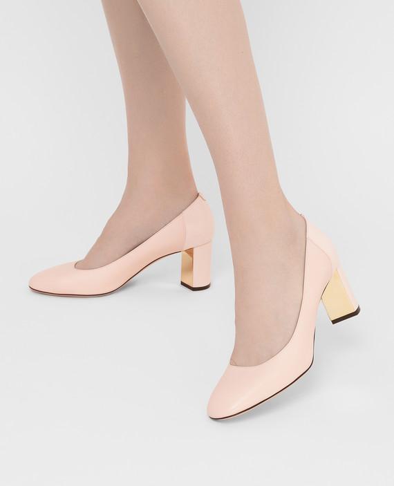 Пудровые кожаные туфли hover