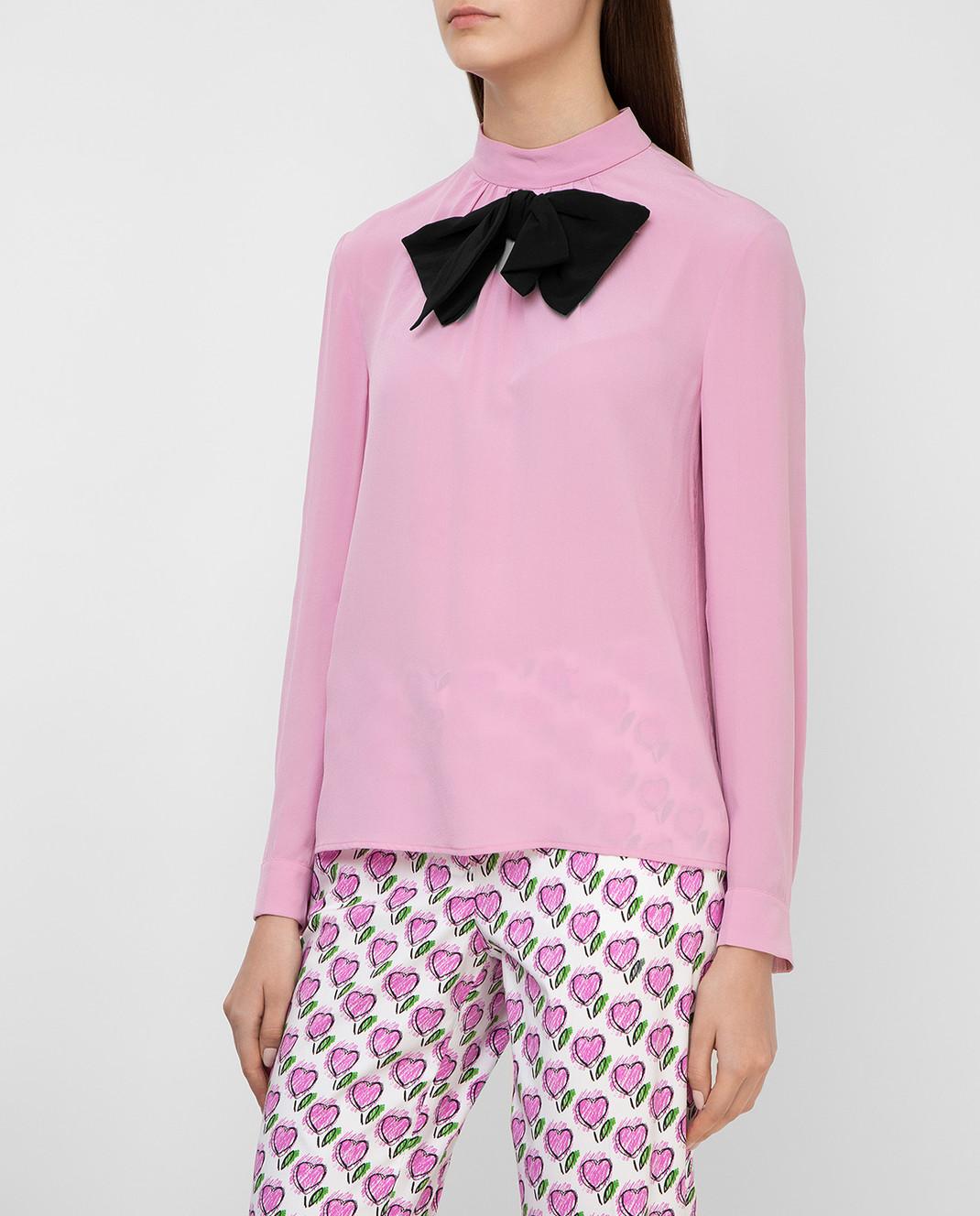 Prada Розовая блуза из шелка P970C изображение 3