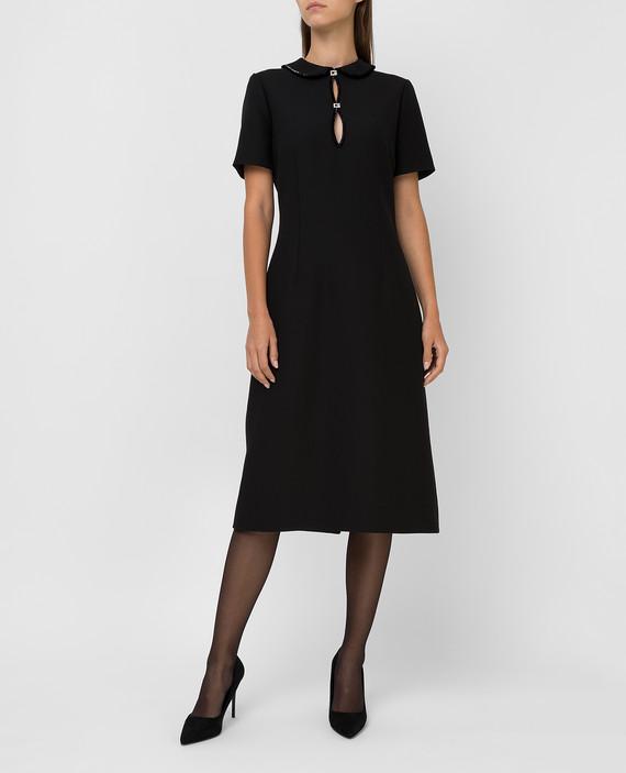 Черное платье из шелка и шерсти hover