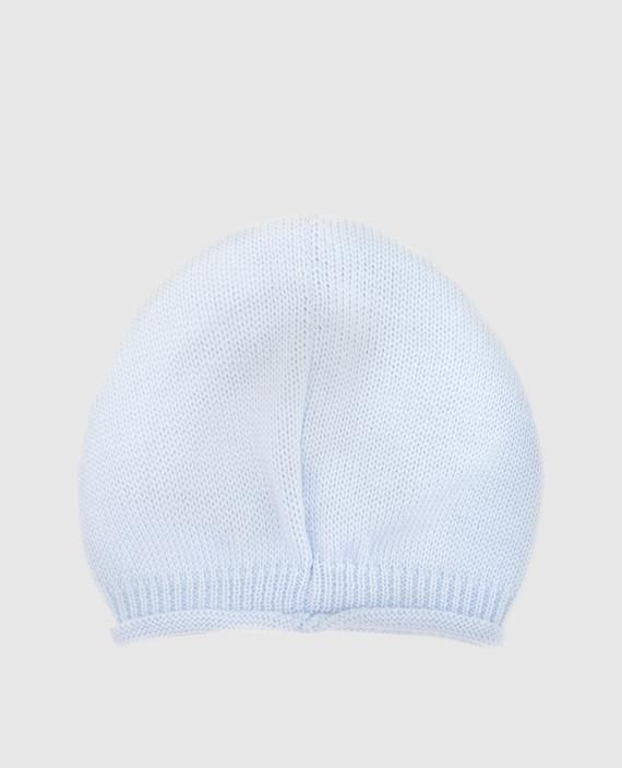 Детская голубая шапка hover