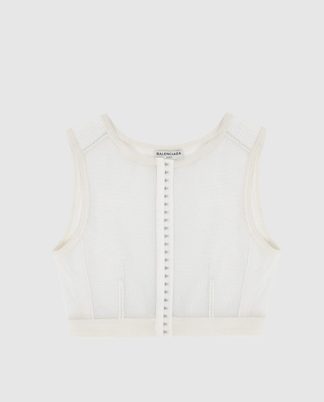 Balenciaga Белый топ 426823