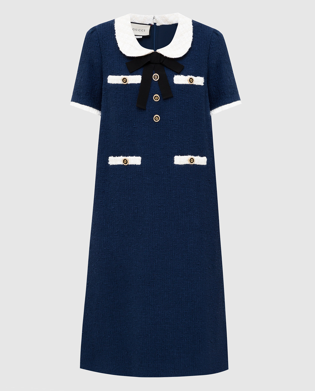 Gucci Синее платье 576826