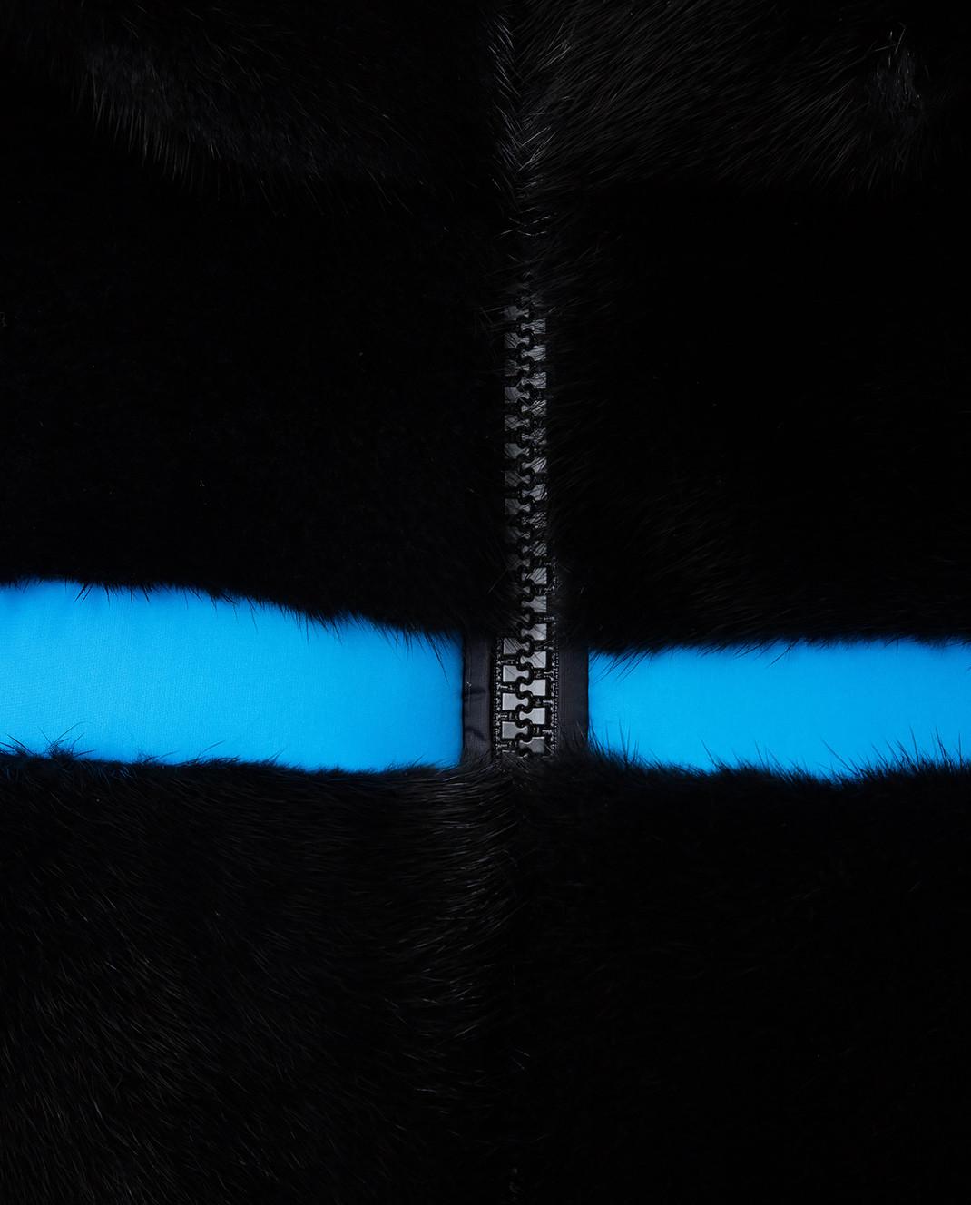 Fabio Gavazzi Черная двусторонняя шуба из меха норки 9VI000F18FG202 изображение 5