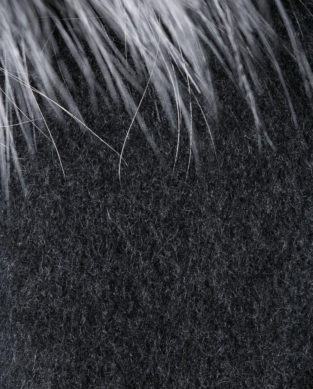 Rindi Серое пальто с мехом 261TE017 изображение 5