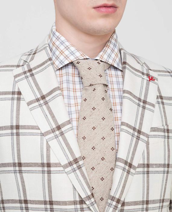 Светло-бежевый галстук из шелка hover