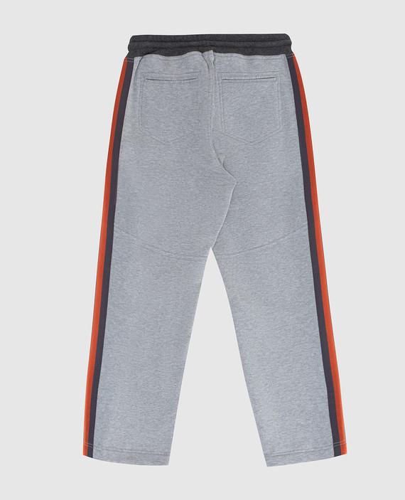 Детские серые спортивные брюки hover