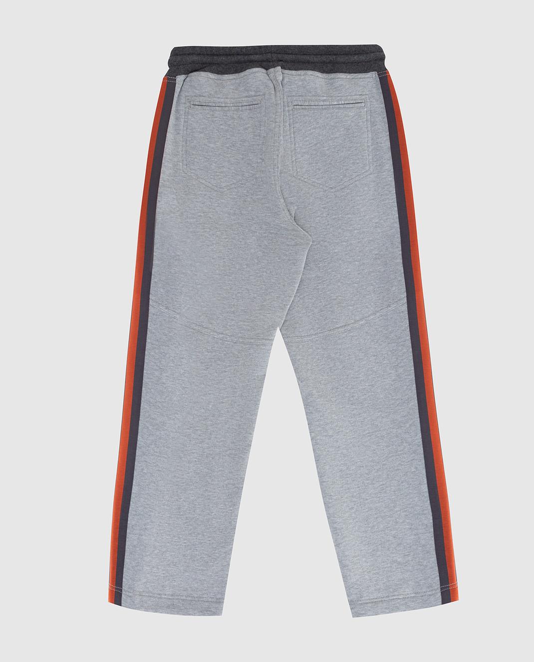 Brunello Cucinelli Детские серые спортивные брюки изображение 2