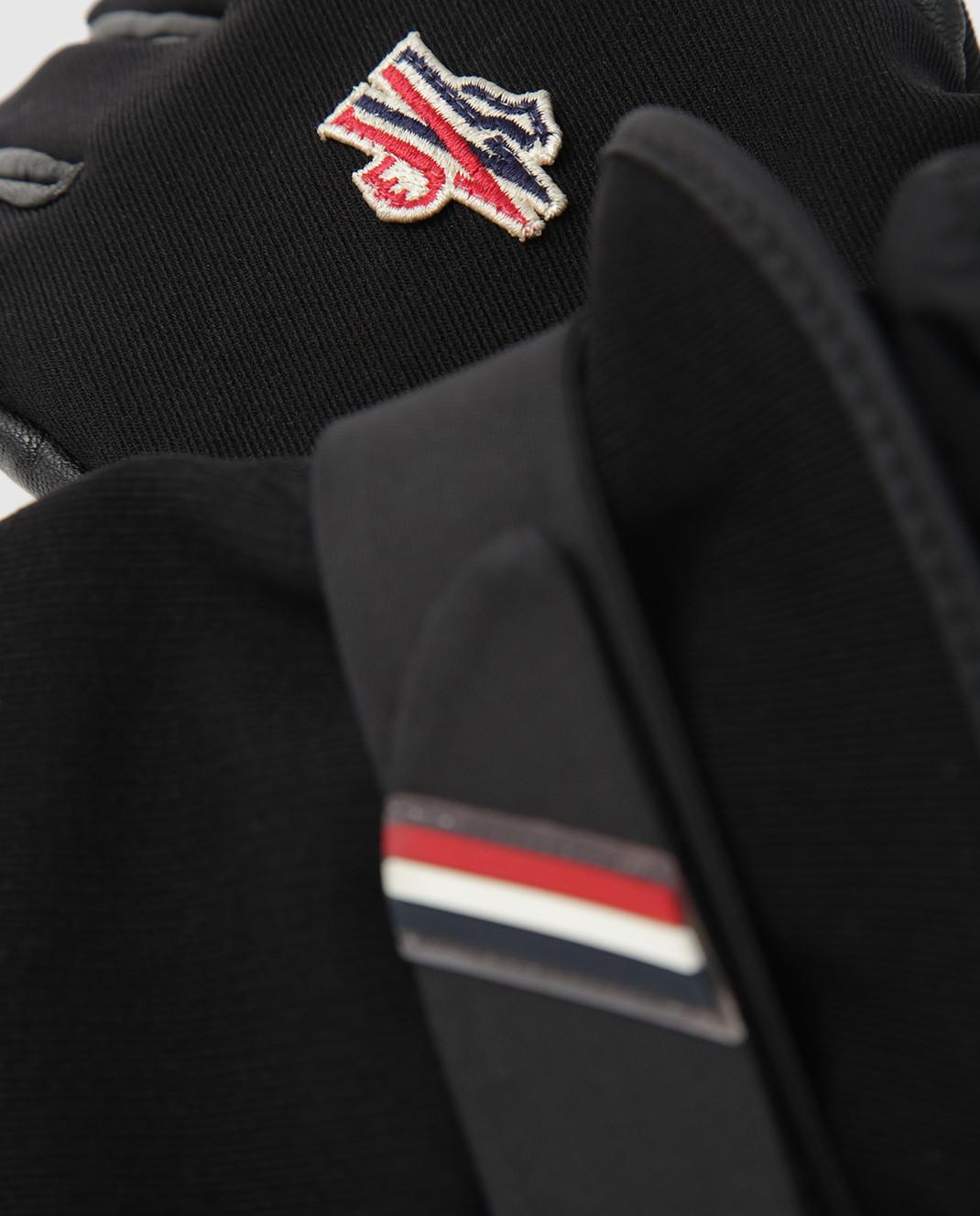 Moncler Grenoble Черные перчатки 00524 изображение 3