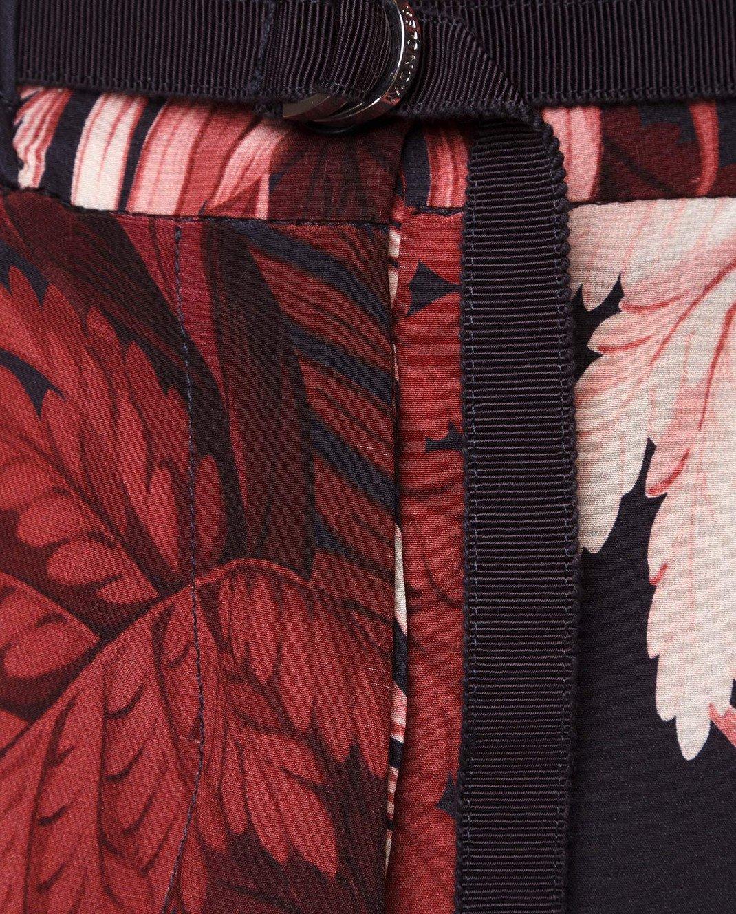Moncler Бордовые кюлоты из шелка 16461 изображение 5
