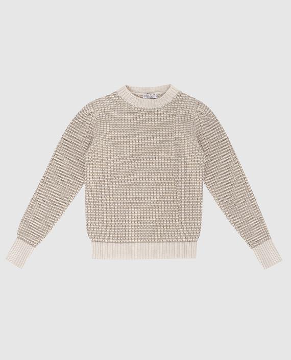 Детский светло-бежевый свитер