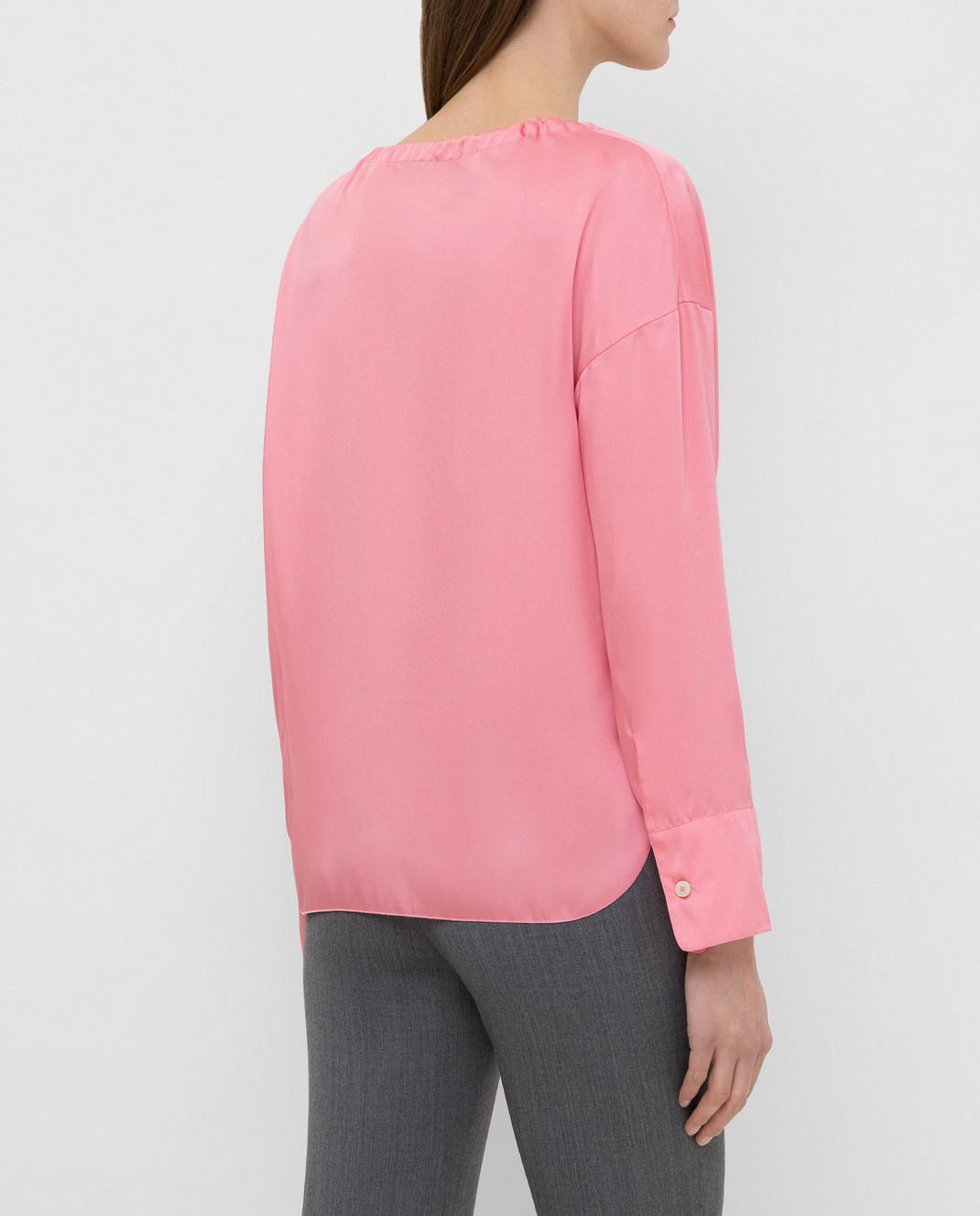 Yves Salomon Розовая блуза 9EYH00563TWUW изображение 4