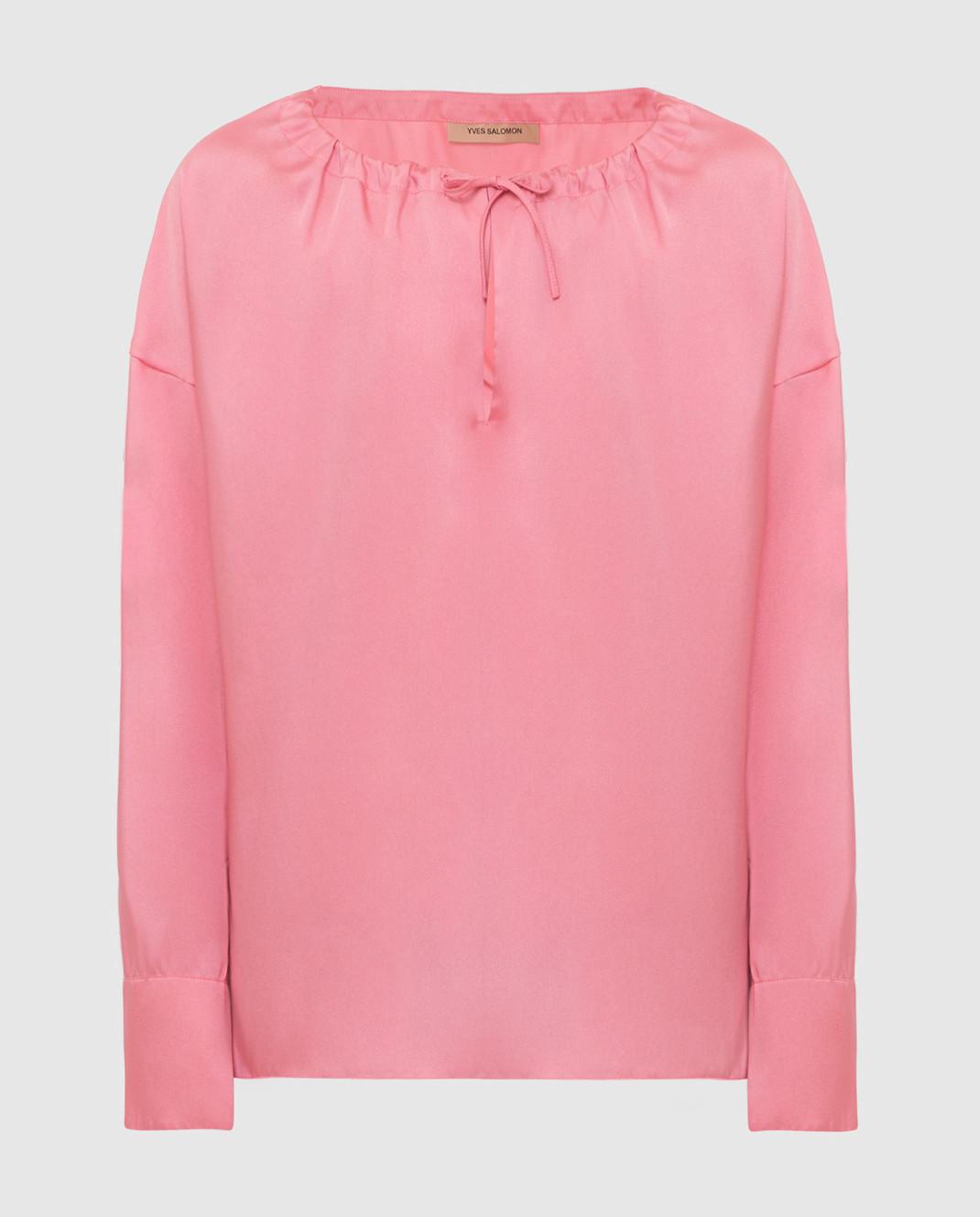 Yves Salomon Розовая блуза 9EYH00563TWUW