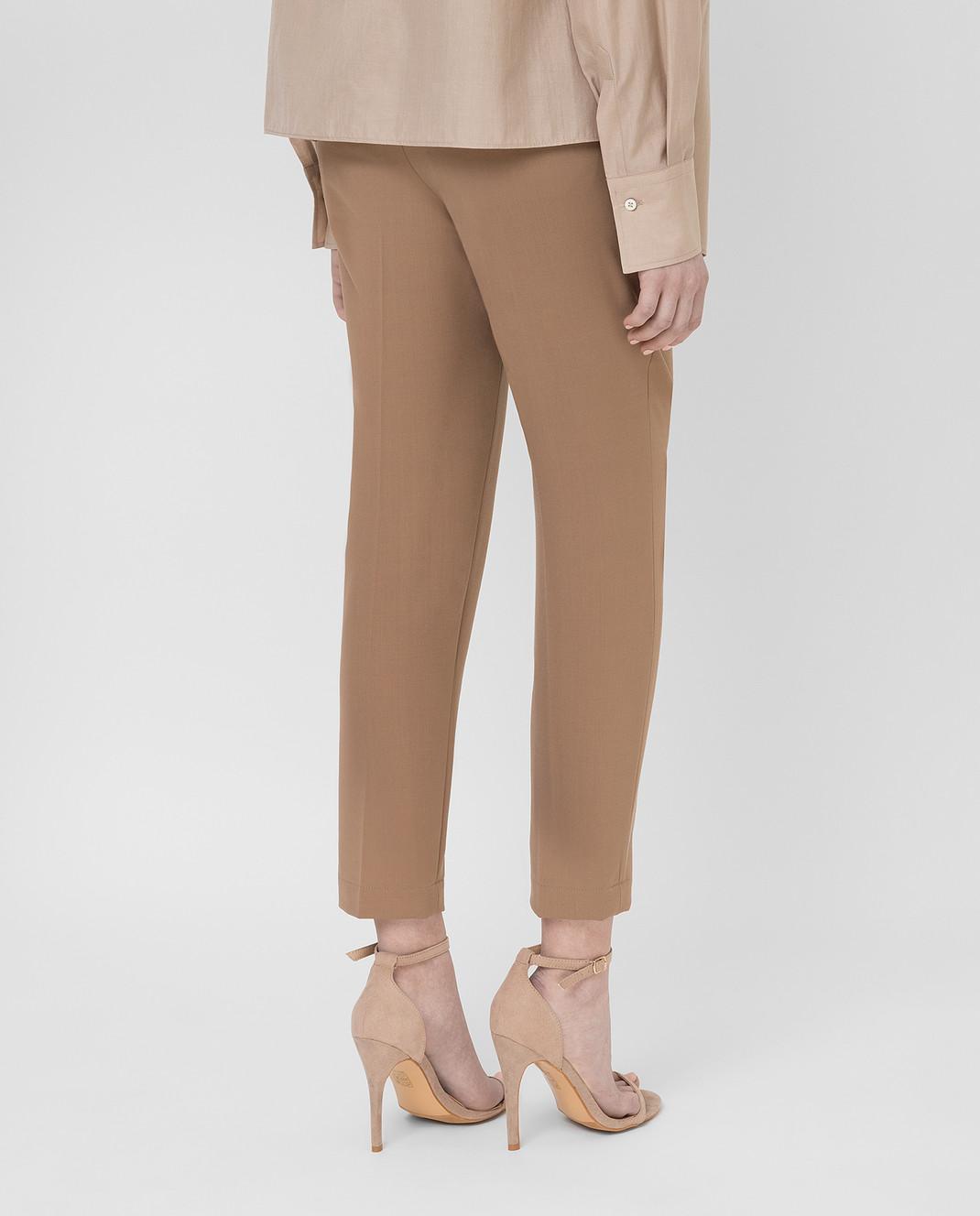 Brunello Cucinelli Бежевые брюки MA124P7227 изображение 4