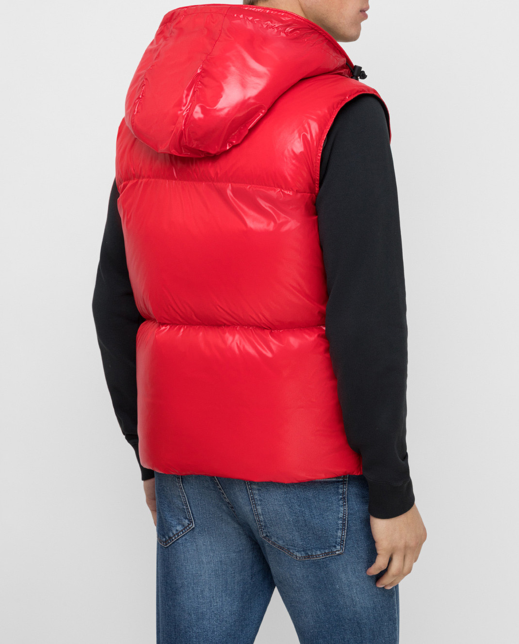 Moncler Красный пуховой жилет изображение 4