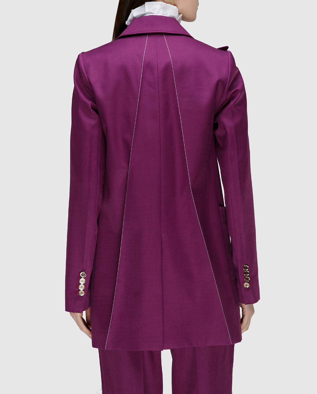 NINA RICCI Фиолетовый жакет из шерсти и шелка 17ECVE017WV0212 изображение 4