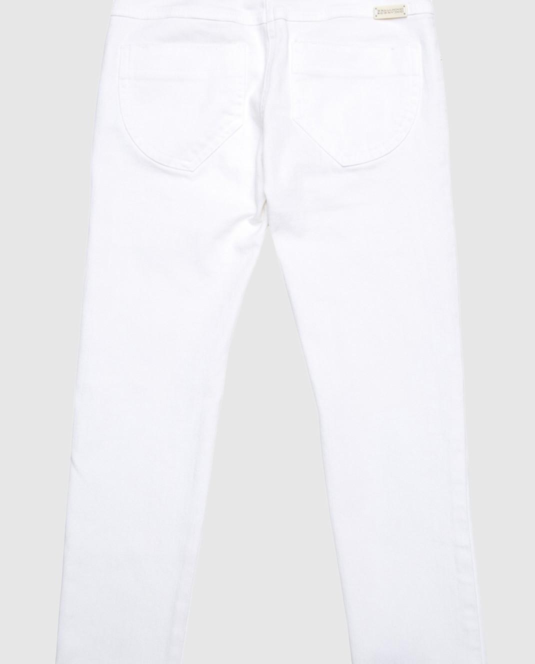 Ermanno Scervino Детские белые джинсы с вышивкой PL1368 изображение 2