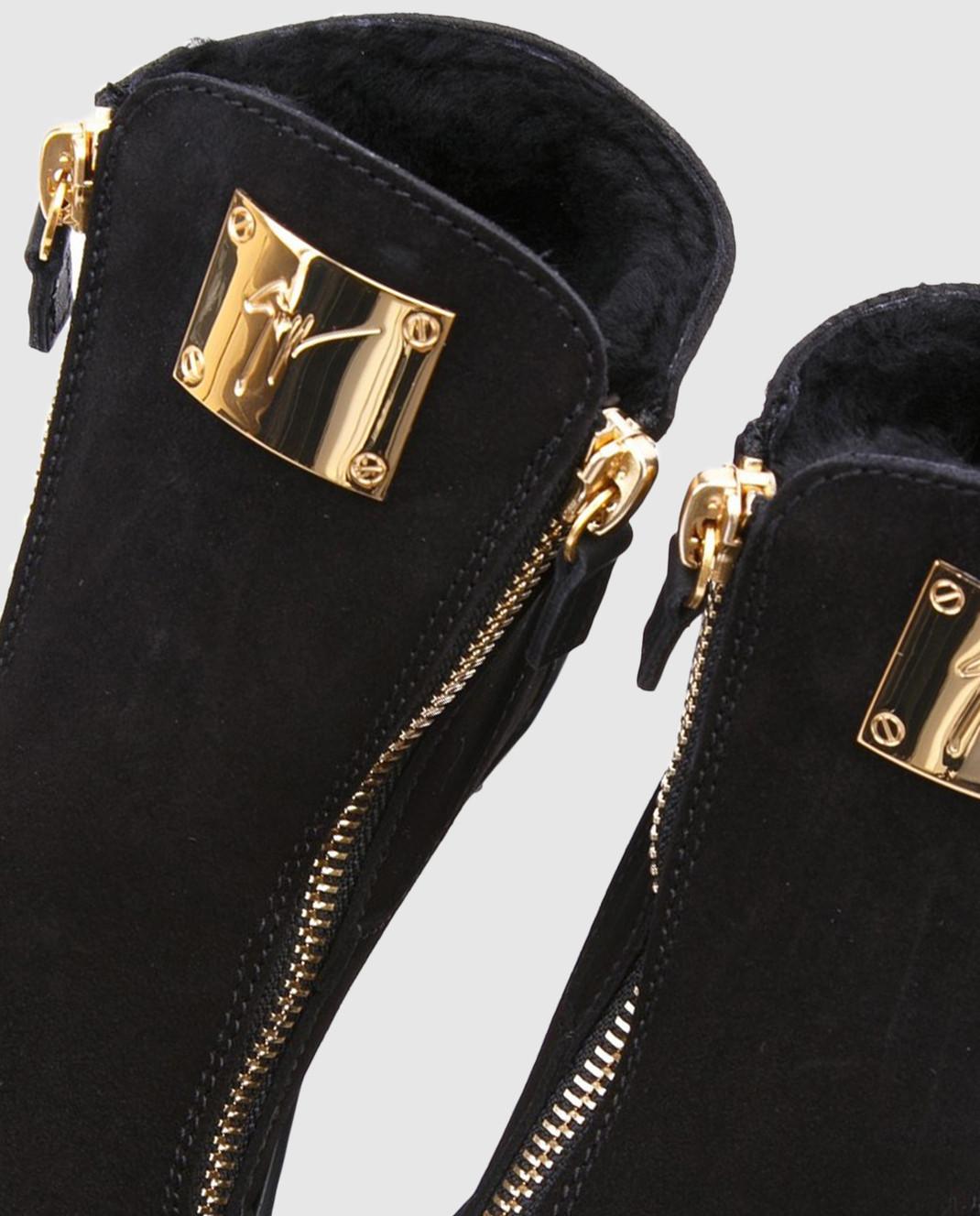 Giuseppe Zanotti Черные замшевые ботинки SBI7402002 изображение 4