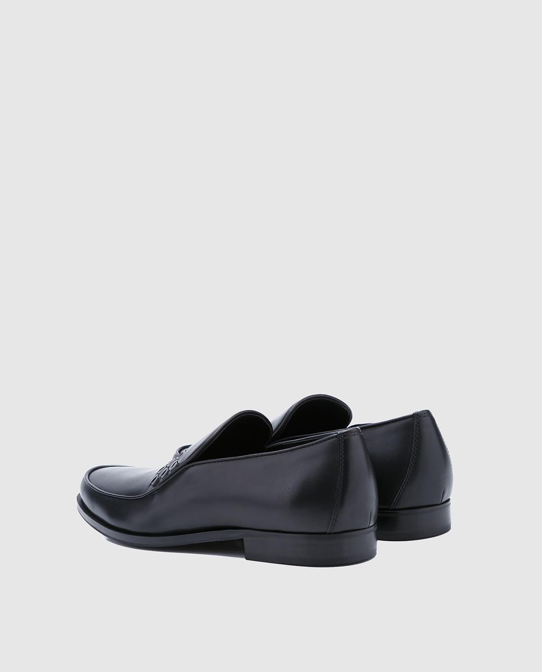 Bottega Veneta Черные кожаные лоферы 496894 изображение 3