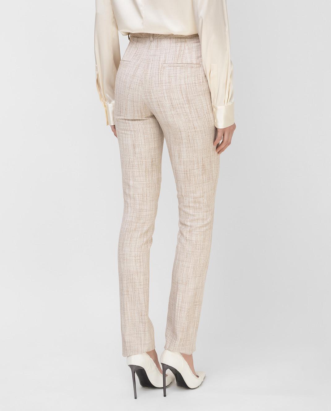 Victoria Beckham Бежевые брюки TRSLM2402 изображение 4