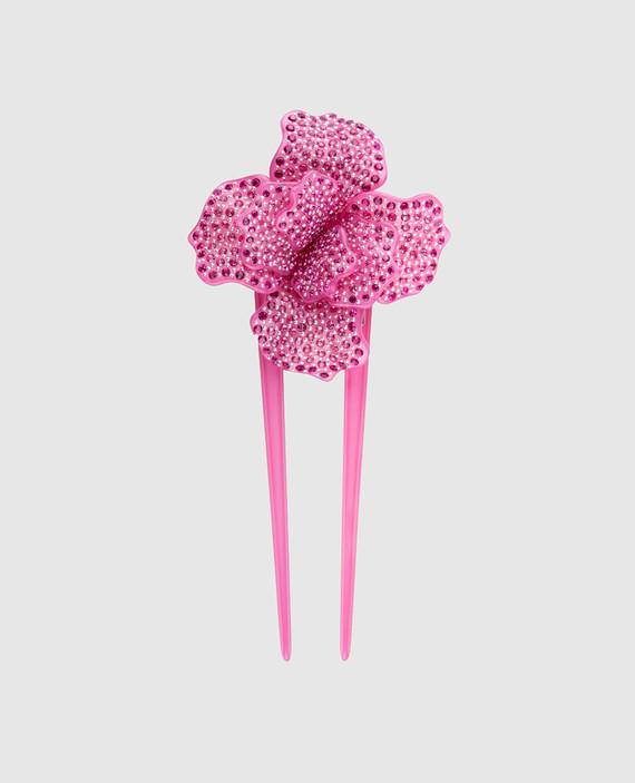 Розовая шпилька для волос AcapulcoJungle