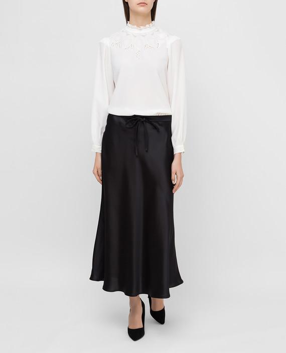 Белая блуза из шелка hover
