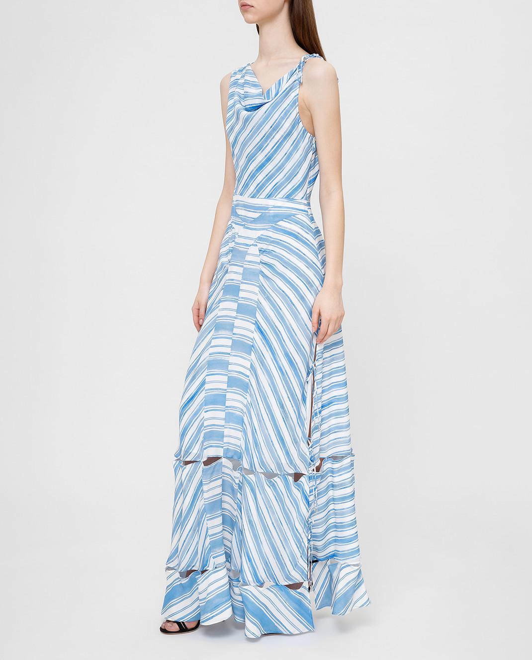 Altuzarra Голубое платье из шелка изображение 3