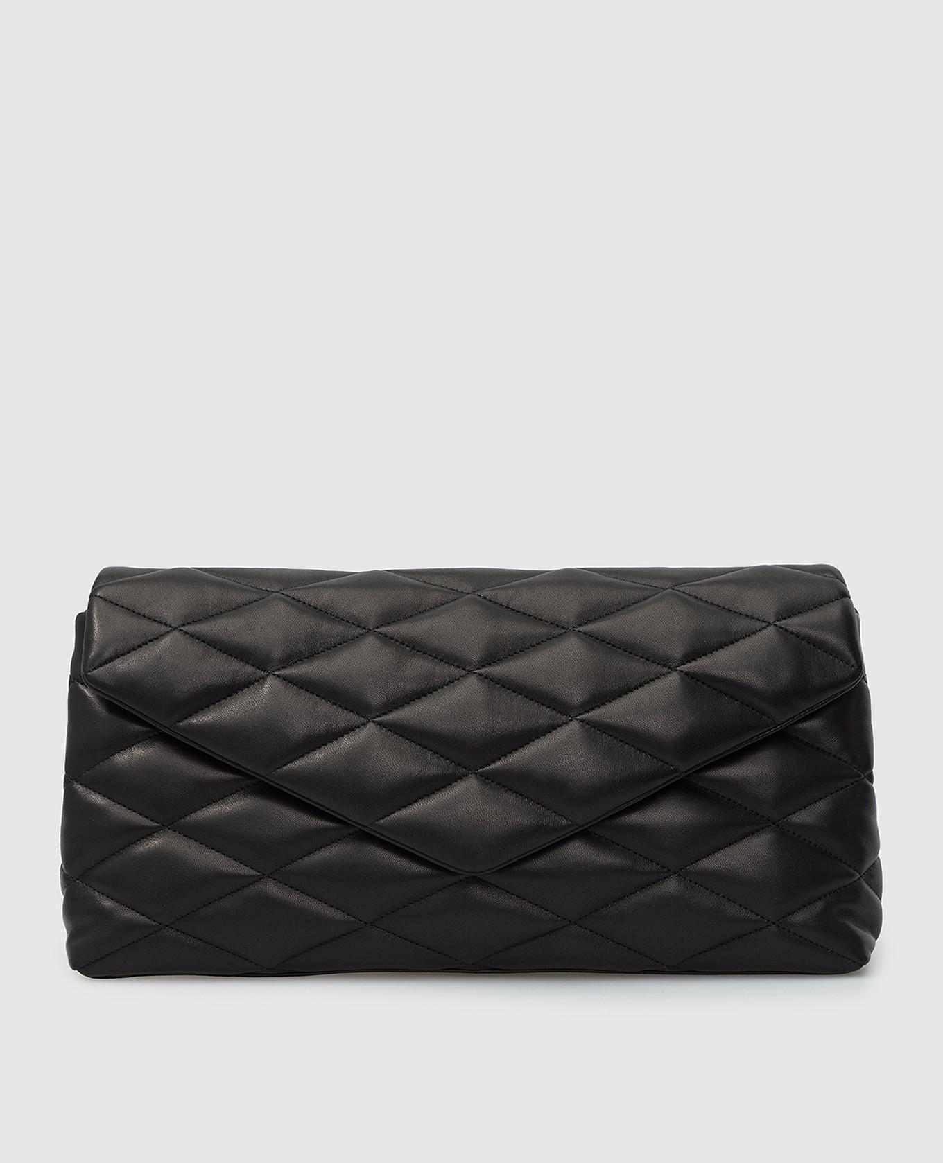 Черный кожаный клатч Sade Saint Laurent
