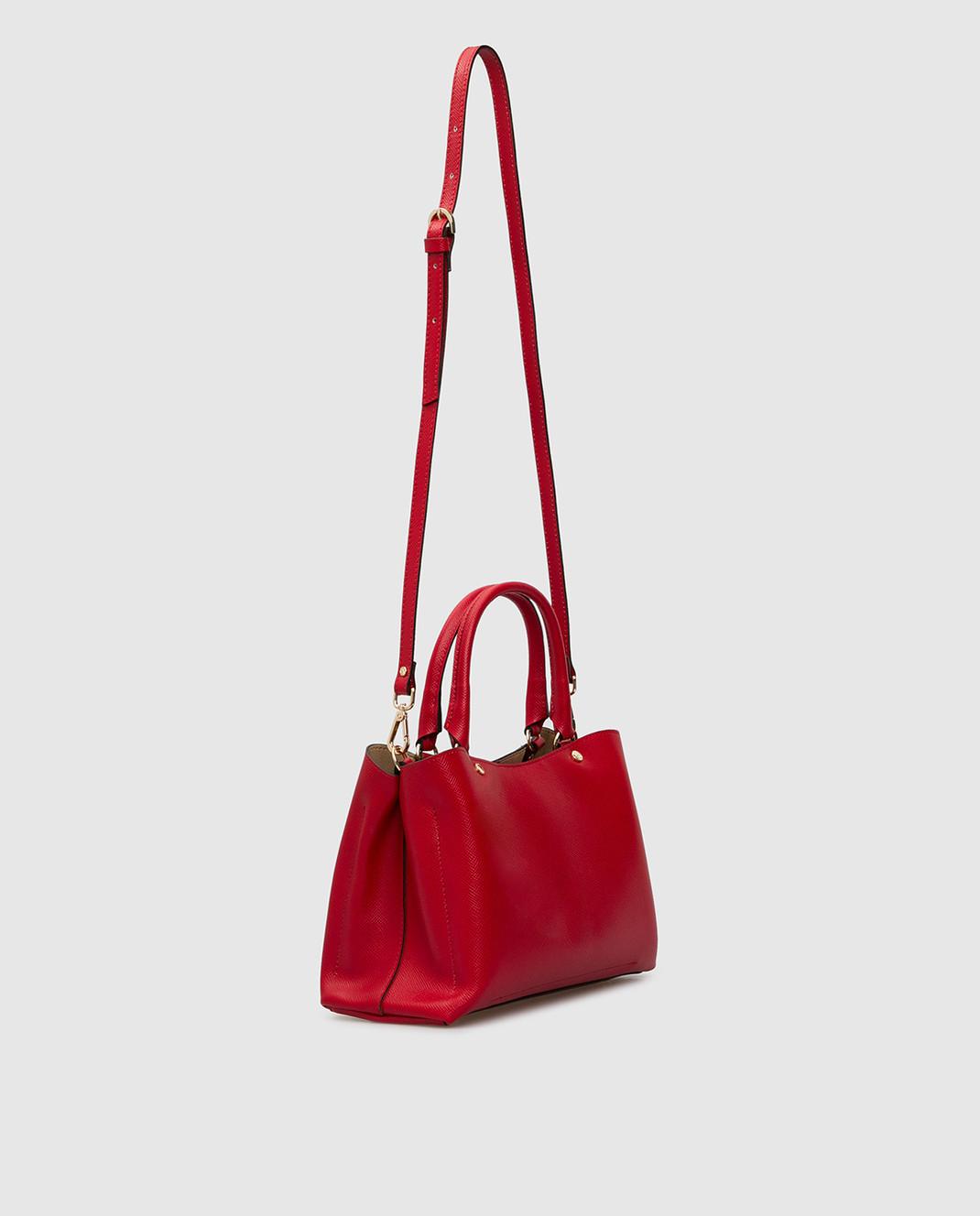 Gianni Notaro Красная кожаная сумка изображение 3
