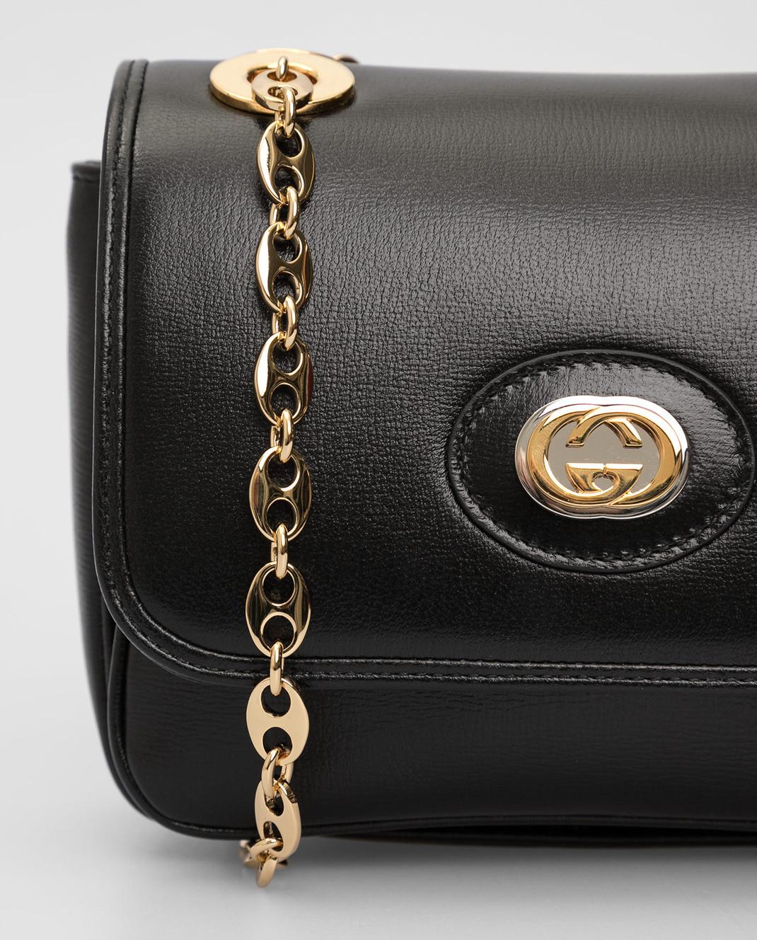Gucci Черная кожаная сумка изображение 5