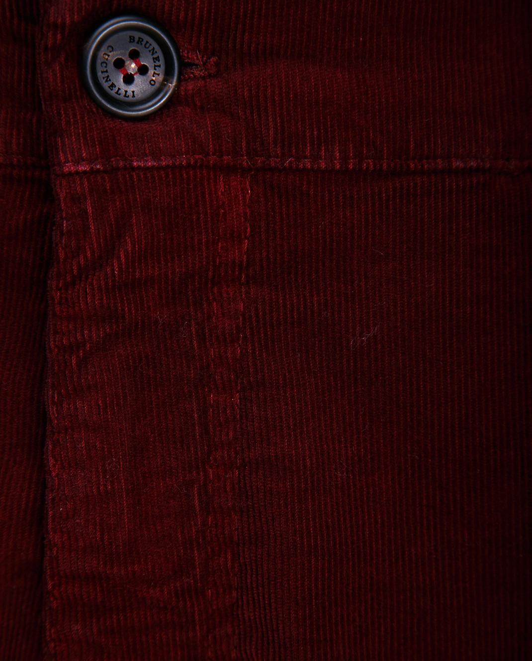 Brunello Cucinelli Бордовые брюки M298DS2120 изображение 3