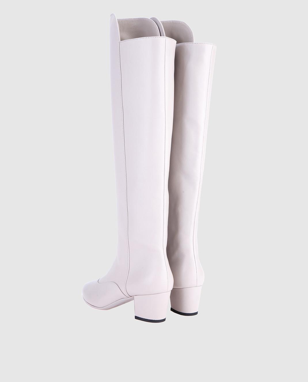 Laurence Dacade Серые кожаные сапоги SANDRINE изображение 3