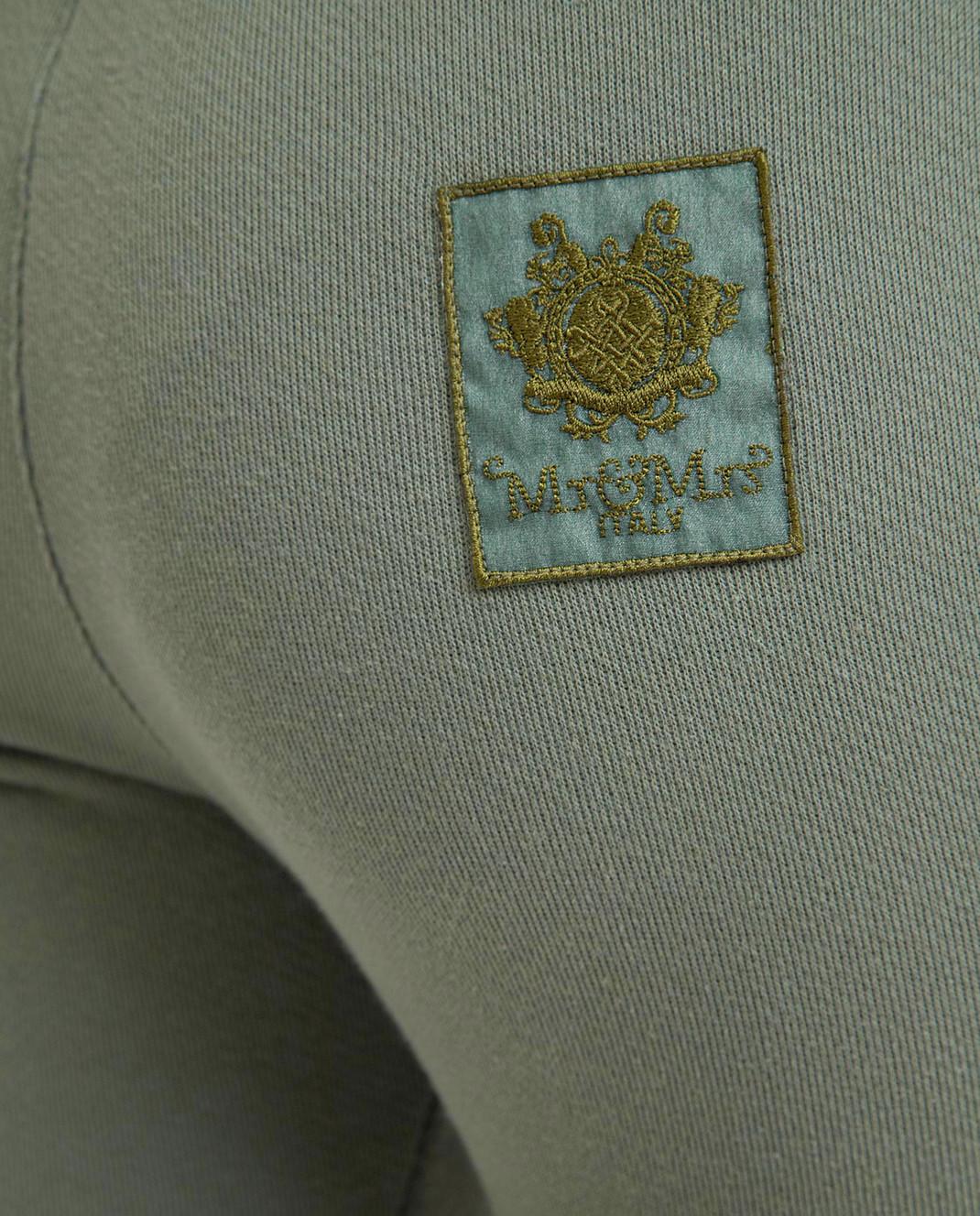 Mr&Mrs Italy Зеленые спортивные брюки JG054E изображение 5