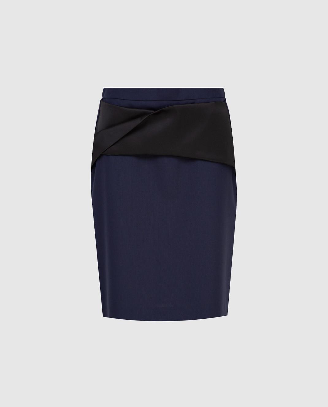 Balenciaga Темно-синяя юбка 373614