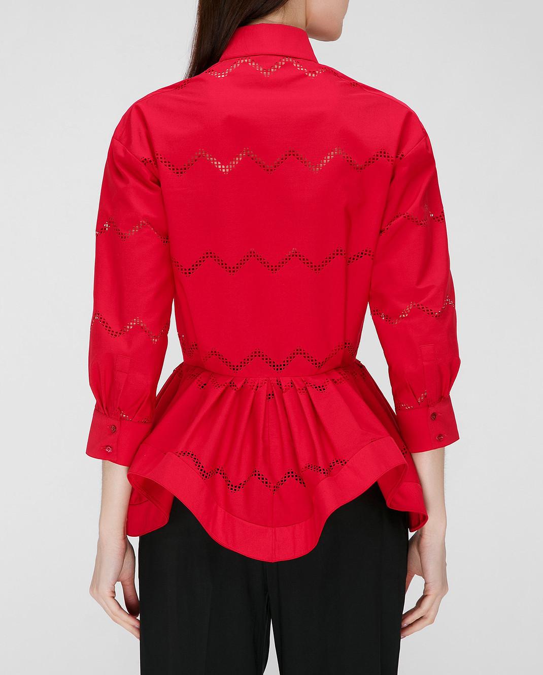 Azzedine Alaia Красная блуза 7S9C081RTL49 изображение 4