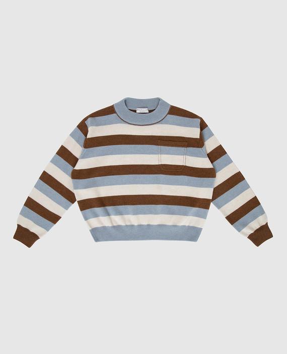 Детский свитер из шерсти, кашемира и шелка