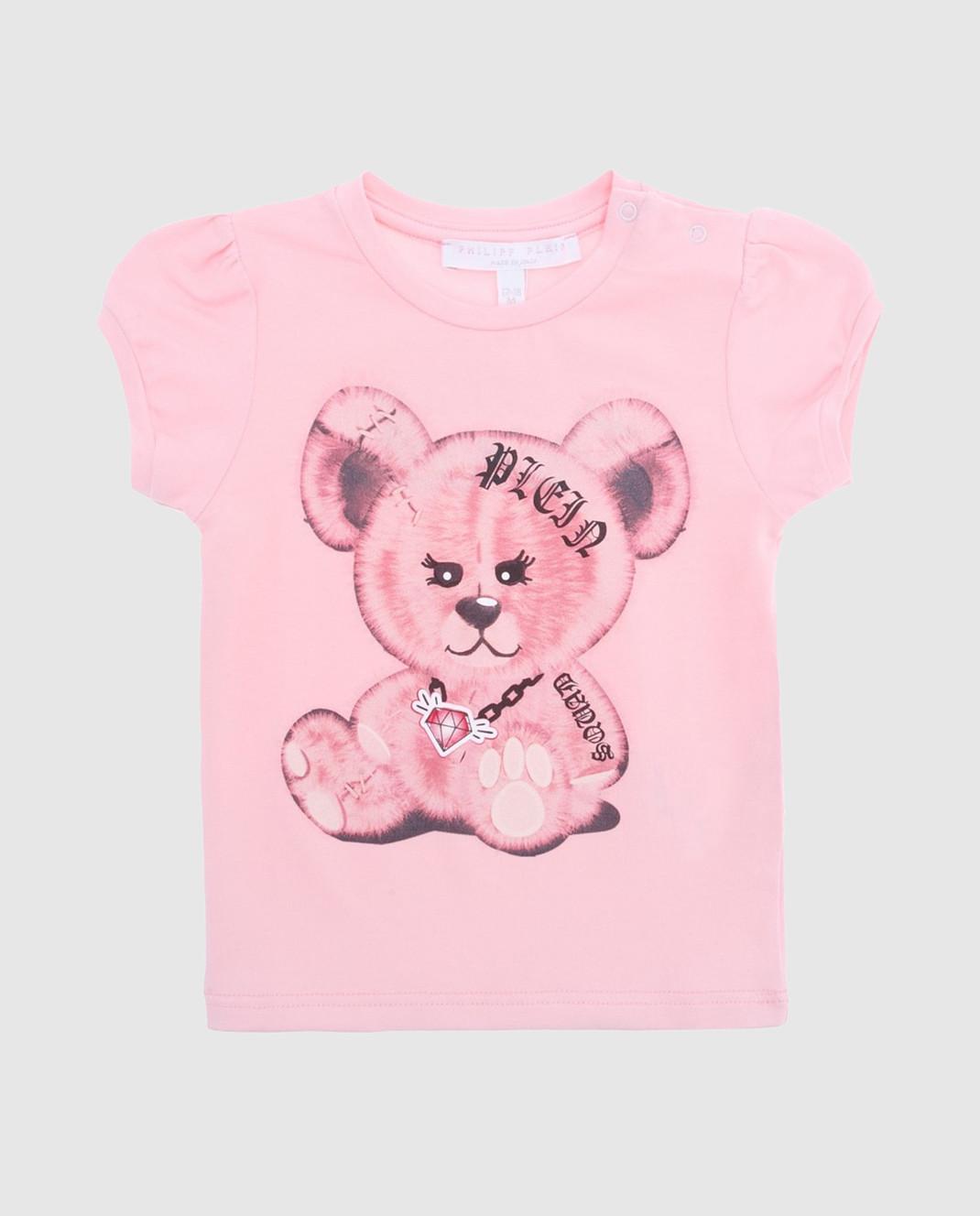 Philipp Plein Детская розовая футболка CTK0002