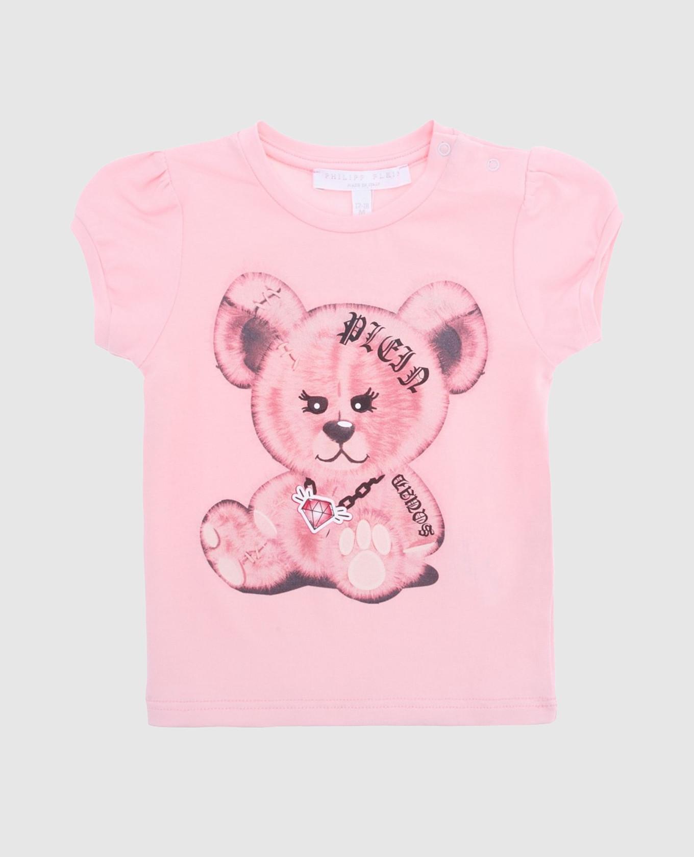 Детская розовая футболка