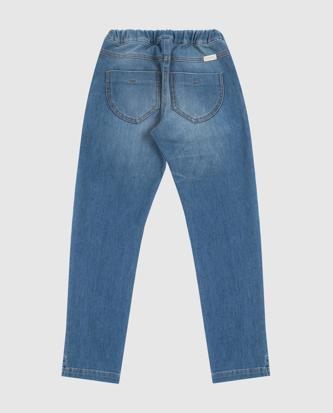 Ermanno Scervino Детские синие джинсы JL081012 изображение 2