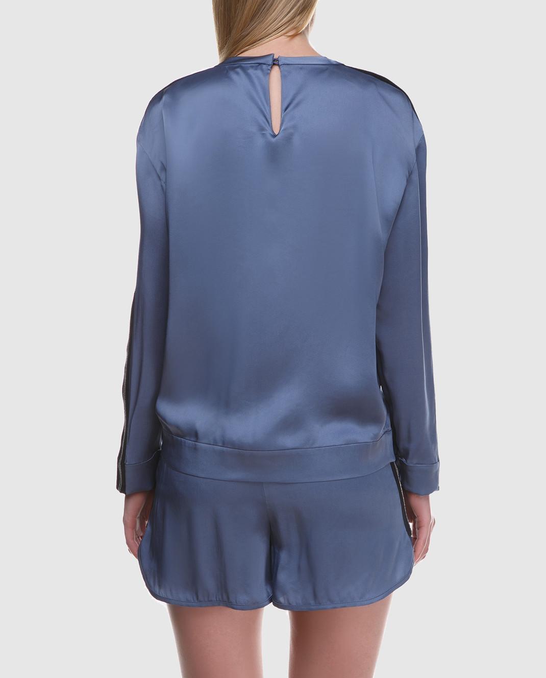 Brunello Cucinelli Синяя блуза M0H34S0720 изображение 4