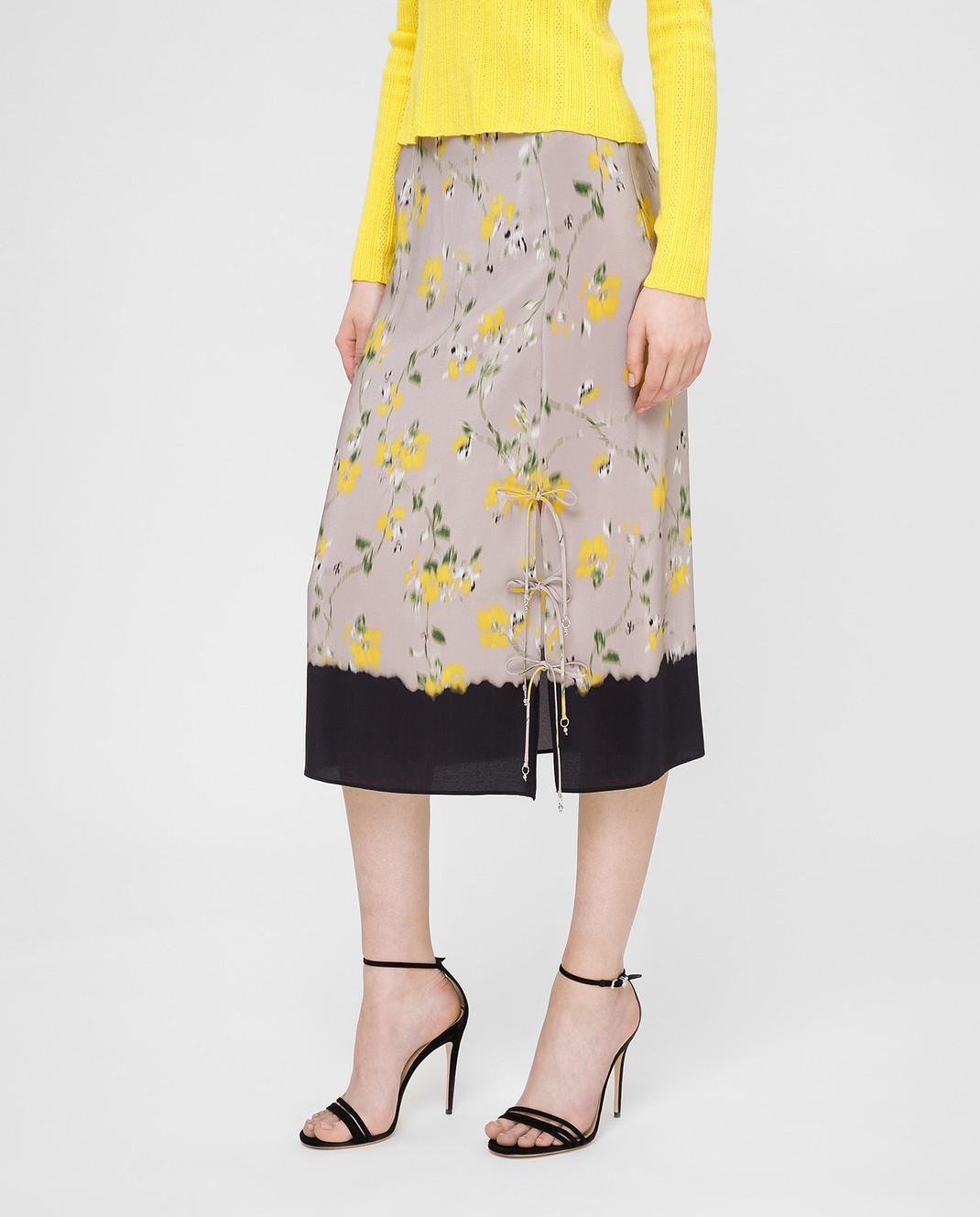 Altuzarra Серая юбка из шелка изображение 3