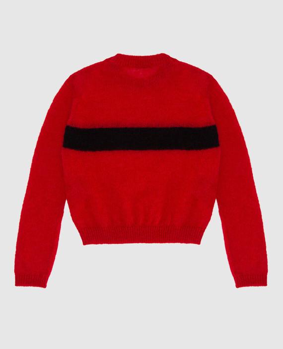 Детский красный свитер hover
