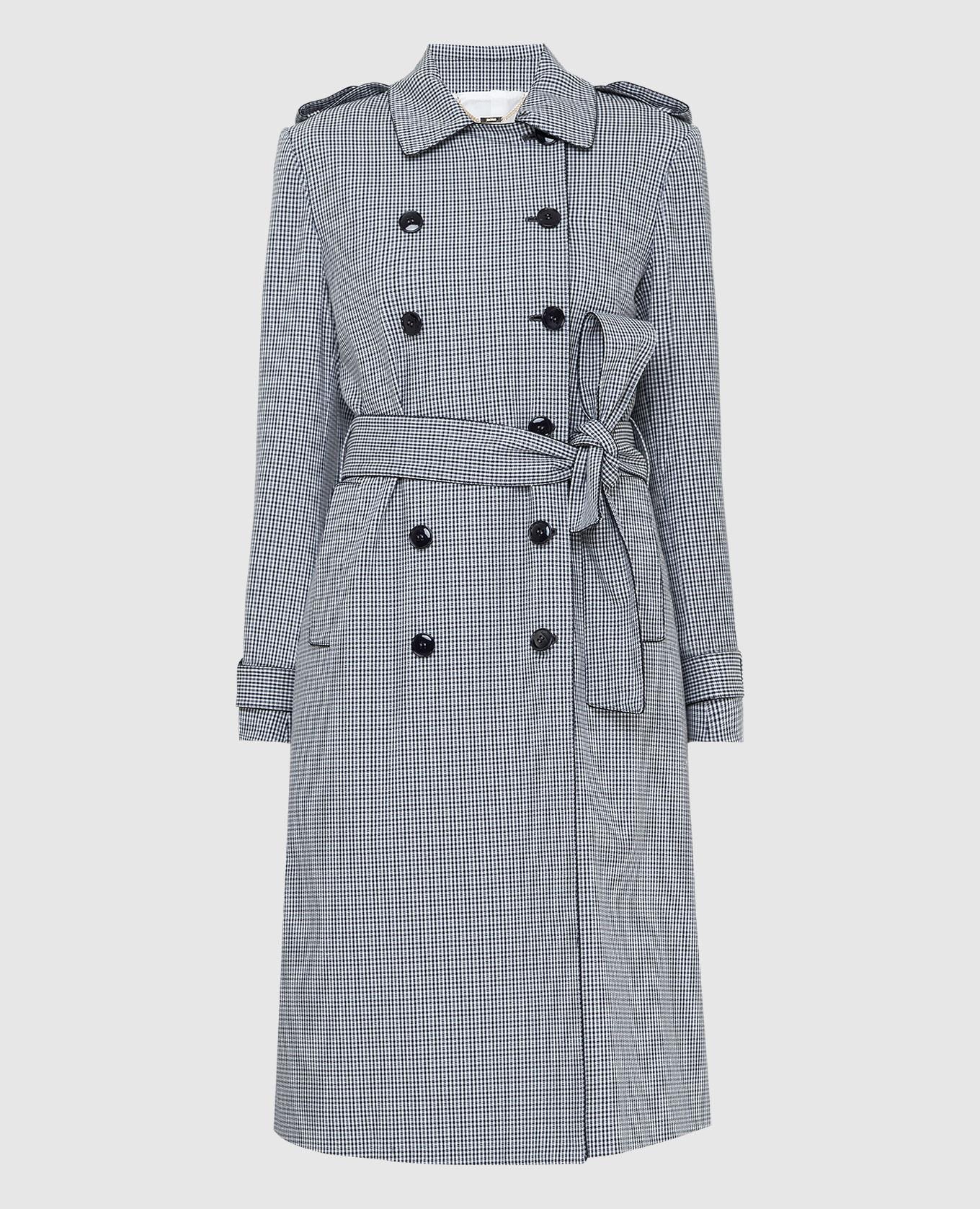 Черное пальто Kiton