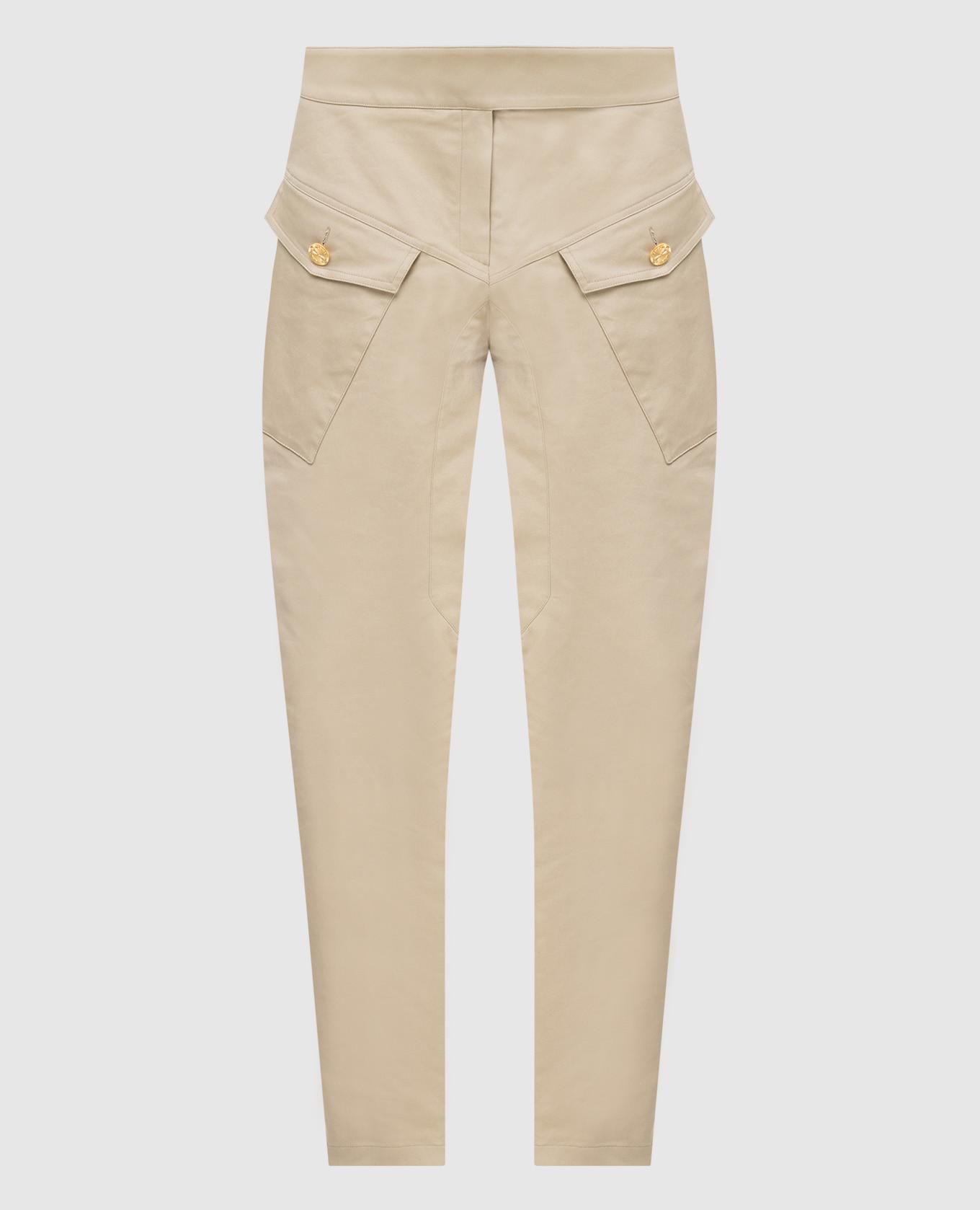 Бежевые брюки ALEXANDRE VAUTHIER