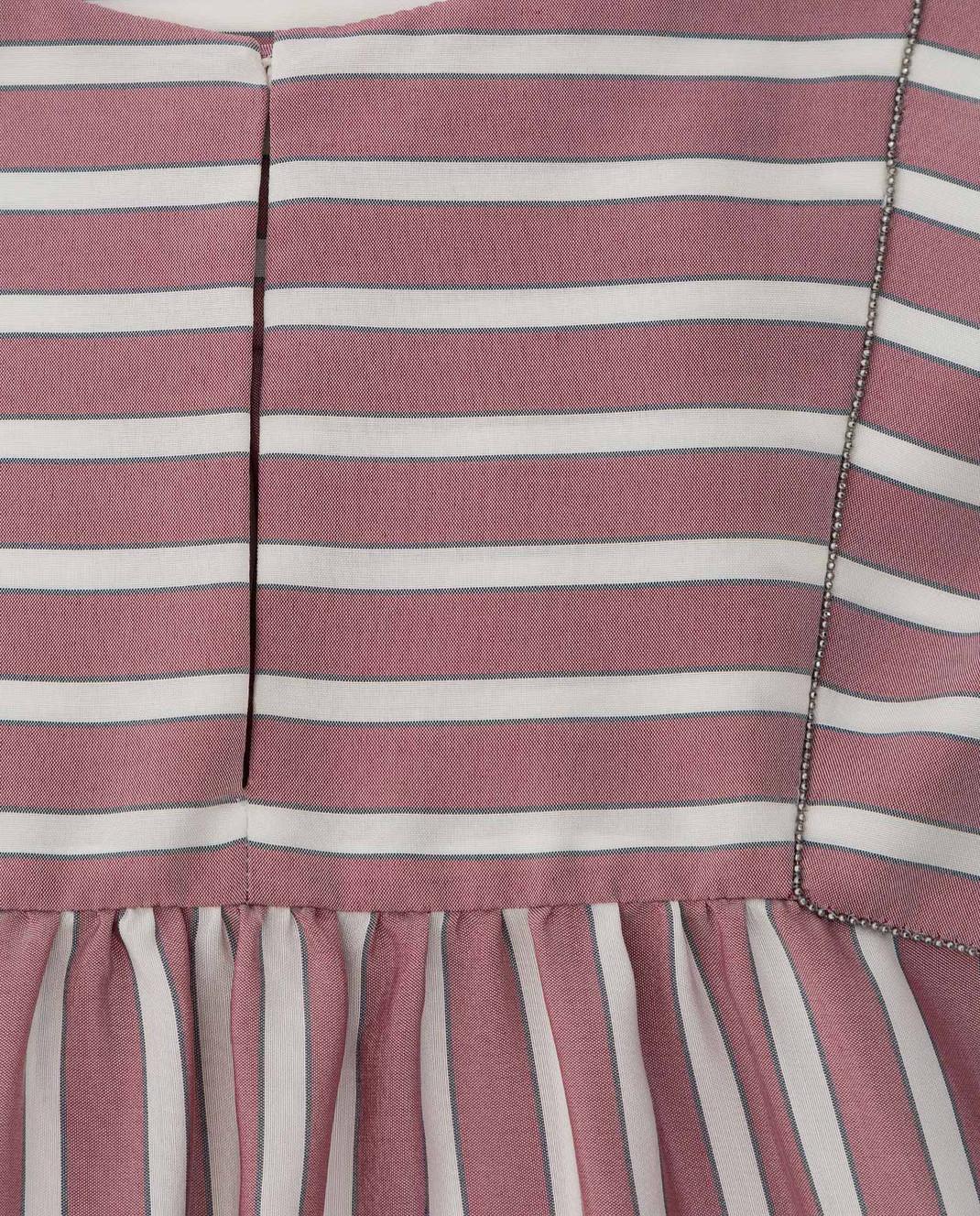 Brunello Cucinelli Детская светло-бордовая блуза из шелка изображение 3